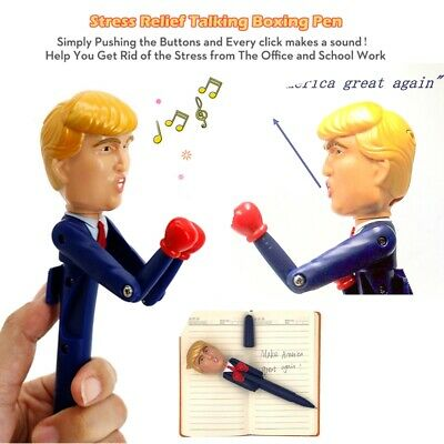 Donald Trump President Boxing pen toy set Real Voices kid boys girls Joke Gifts