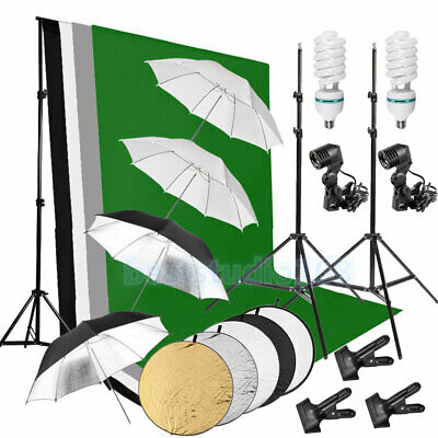 Photography Studio 4 Parapluie Backdrop Éclairage continu Fond Stand Kit Set