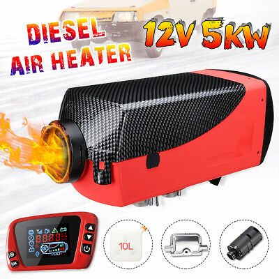 5KW 12V Diesel Air Heater Upgrade LCD Thermostat For Trucks Car Boat Trailer