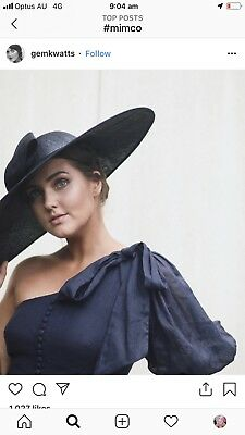 Mimco Facinator Black Races Fleminton Hat