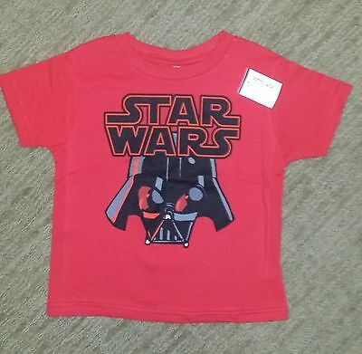 STAR WARS Darth Vader NEW OFFICIALLY LICENSED Toddler Size 4T Red SHIPS FAST!