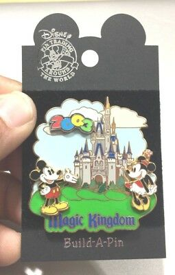 2003 DISNEY Magic Kingdom MICKEY & MINNIE MOUSE Build A Pin Collectible Trading