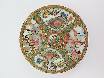 Antique Chinese Canton porcelain plate Famille Rose 19th century