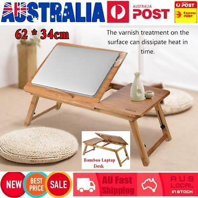 Foldable Wooden Bamboo Bed Tray Breakfast Laptop Desk Stand  62*34cm Table Tray