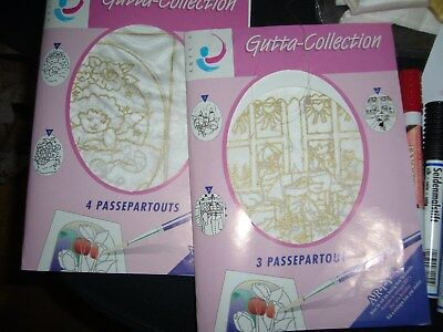 GUTTA-Collection  2 x Karten mit Passepartout-Set + 6 Seidenmalstifte