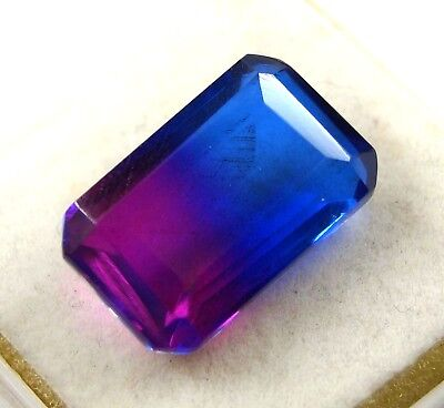 New Year Offer GGL Certified 14.85 Ct Emerald Cut Multi Color Tourmaline Gem