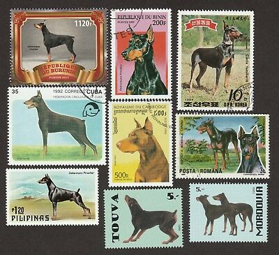 DOBERMAN PINSCHER ** Int'l Dog Stamp Collection ** Great Gift Idea*