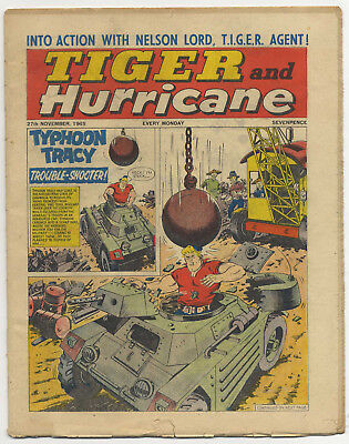 Tiger 27th Nov 1965 (Jet-Ace Logan, Olac the Gladiator, Roy of the Rovers...)