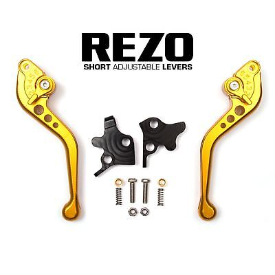 REZO Gold Adjustable Short Brake and Clutch Lever Set for Yamaha XJ6-N ABS 09-15