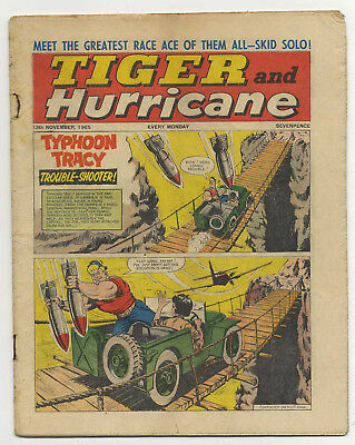 Tiger 13th Nov 1965 (Jet-Ace Logan, Olac the Gladiator, Roy of the Rovers...)