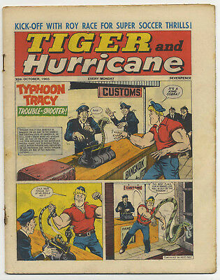 Tiger 30th Oct 1965 (Jet-Ace Logan, Olac the Gladiator, Roy of the Rovers...)