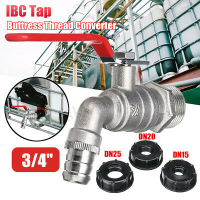 """3/4"""" IBC Tap Water Tank Outlet Fitting Connector S60x6+Buttress Thread Converter"""