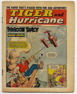 Tiger 2nd Oct 1965 (Roy of the Rovers, Jet-Ace Logan, Olac the Gladiator...)