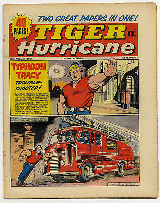 Tiger 28th Aug 1965 (Roy of the Rovers, Jet-Ace Logan, Olac the Gladiator...)
