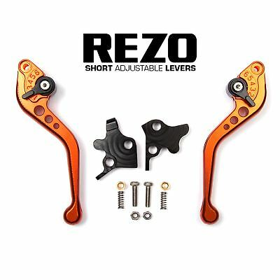 REZO Orange Short Brake and Clutch Lever Set for Kawasaki GPZ 500 S 90-09