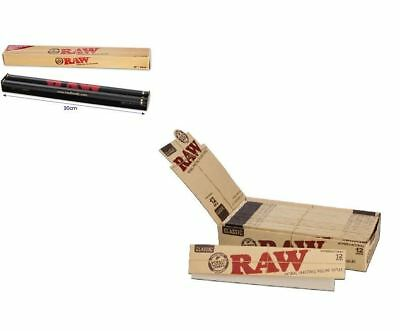 "RAW 12"" Rolling Papers Supernatural Unrefined 20 Packs Box & Rolling Machine"