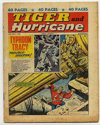 Tiger 10th July 1965 (Jet-Ace Logan, Olac the Gladiator, Roy of the Rovers...)