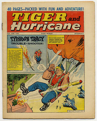 Tiger 26th June 1965 (Jet-Ace Logan, Olac the Gladiator, Roy of the Rovers...)