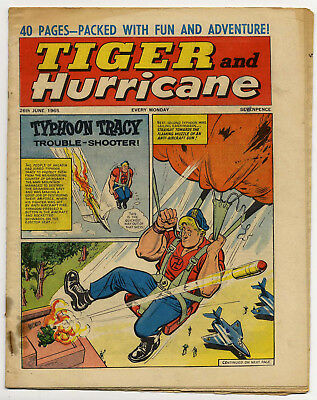 Tiger 26th June 1965 (Jet-Ace Logan, Olac the Gladiator, Roy of the Rovers)