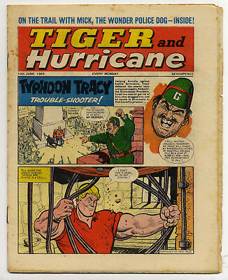 Tiger 19th June 1965 (Jet-Ace Logan, Olac the Gladiator, Roy of the Rovers)