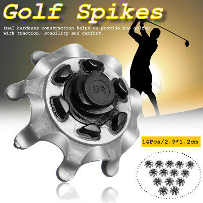 14/28pcs Spikes/Cleats PINS Golf Shoes For FootJoy Stuburt Callaway Gray+Silver