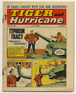 Tiger 22nd May 1965 (Roy of the Rovers, Jet-Ace Logan, Olac the Gladiator)