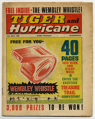 Tiger 15th May 1965 (Roy of the Rovers, Jet-Ace Logan, Olac the Gladiator...)