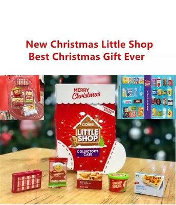 Coles Little Shop Mini Collectables Limited Edition Christmas Case All 4 Items
