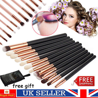 Professional Eyeshadow Eyebrow Blending Brush Set Eye Cosmetic Makeup Brushes UK