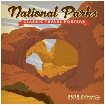 Zebra Publishing 2019 National Parks Classic Posters Wall Calendar, National ...