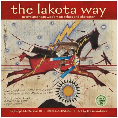 2019 Lakota Way 2019 Wall Calendar, Ethnic Art by Amber Lotus