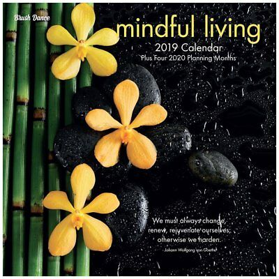 2019 Mindful Living Wall Calendar, More Inspiration by Brush Dance