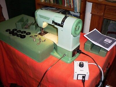 Vintage Elna Supermatic 1956 Electric Sewing Machine 110v with 230v converter