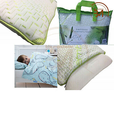 New Memory Foam UK Cot Bed Size Pillow Nursery Junior Kids Baby Toddler Comfort
