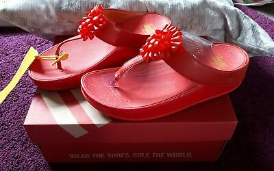 653406d944c Brand New in Box Genuine Ladies Fit Flops Blossom Red Size 6.5