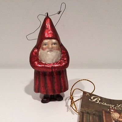 Bethany Lowe Belsnickle Santa Ornament - New (Red)