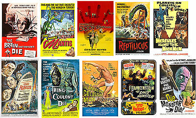 Vintage Sci Fi Movie Posters Body Snatchers Brain that wouldn't Die V Price