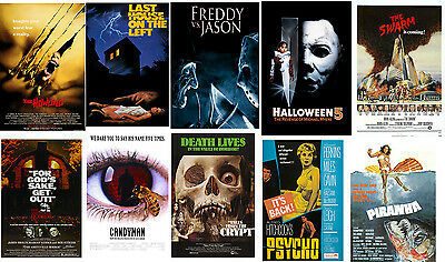 Retro Horror Movie Posters Howling Candyman Piranha The Swarm Amityville Horror