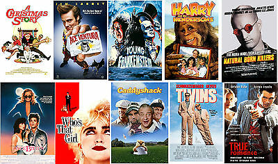 80's Movie Party Posters Twins Madonna Caddyshack