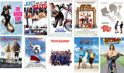 Classic 80's Party posters Nerds Naked Gun Pee Wee What About Bob Fast Times