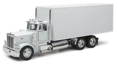 PETERBILT 379 Box Delivery Truck NEWRAY Diecast 1:32 Scale White