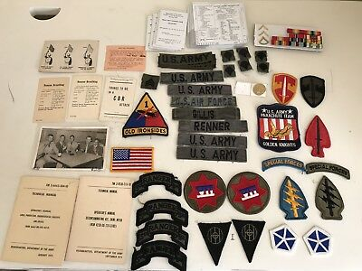 Vietnam 1970s 1980s Cold War US Army Insignia Lot Misc
