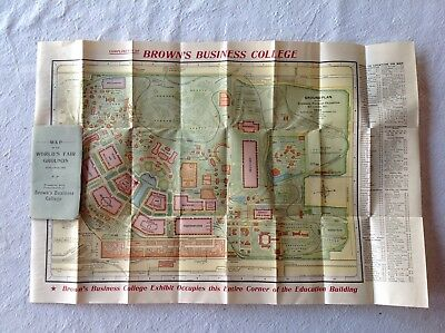 MAP OF THE WORLD'S FAIR GROUNDS. ST. LOUIS, 1904. Louisiana Purchase Expo MINT