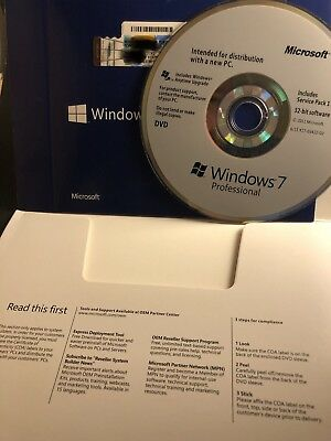 Windows 7 Professional 32 Bit SP1 Full Version Pro (DVD + Product Key )
