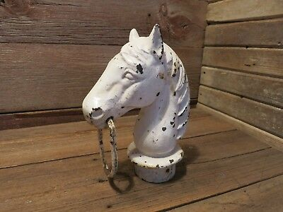 Vintage Antique Cast Iron Horse Head For Farm Decor Hitching Fence!