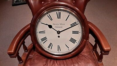 12in dail School /station fusee wall clock