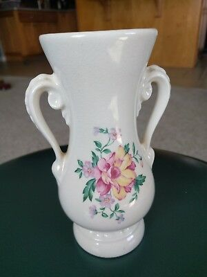 Royal Copely Double Handled Vase - Vintage