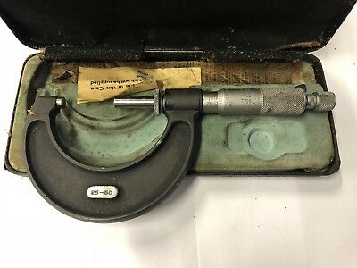 Moore & Wright 25 - 50mm Micrometer No.966