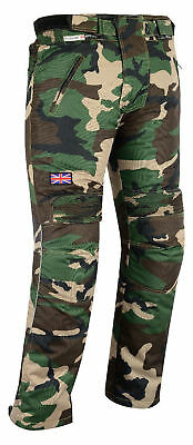 Camo Waterproof Motorbike Motorcycle Trouser CE Armour Thermal Lining Biker Pant