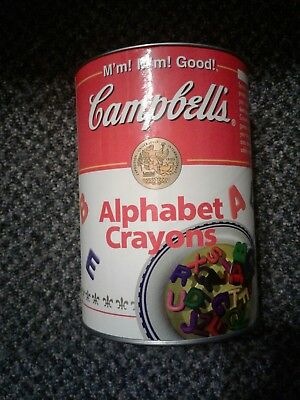 Campbell's Alphabet Soup Crayons in  collectable Canister